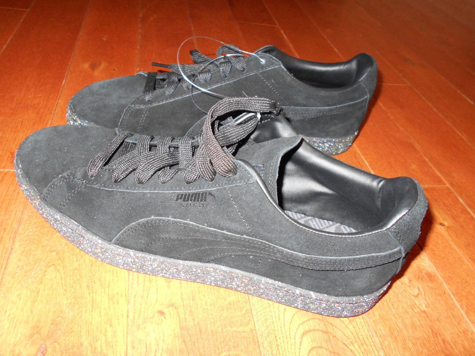 Puma Suede Splatter paint soles Men s Sneakers shoes hip hop Black Mens 11  SEXY 10fd539b7