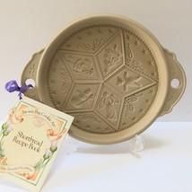 Brown Bag Cookie Art Christmas Cookie Mold Shortbread Pan Stoneware Ange... - $19.95