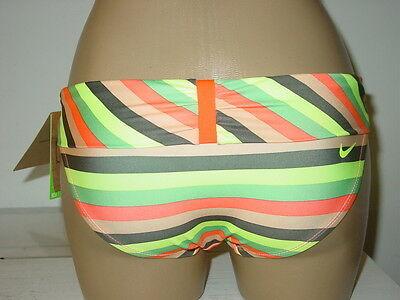 Women's Nike yellow orange striped bikini bottoms swimsuit-XS-NWT-$42.