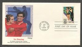 Jan 6 1984 FDC Ice Dancing Stamp #2067 Fleetwood - $3.99