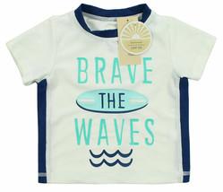 First Impressions New Infant Brave The Waves Rash Guard Swim T Shirt UPF50 6-9M - $6.92