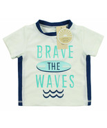 FIRST IMPRESSIONS NEW INFANT BRAVE THE WAVES RASH GUARD SWIM T SHIRT  UP... - $6.92