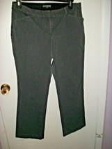 Express Editor Gray Size 12 Stretchy Flat Front Straight Leg Pants - $9.89