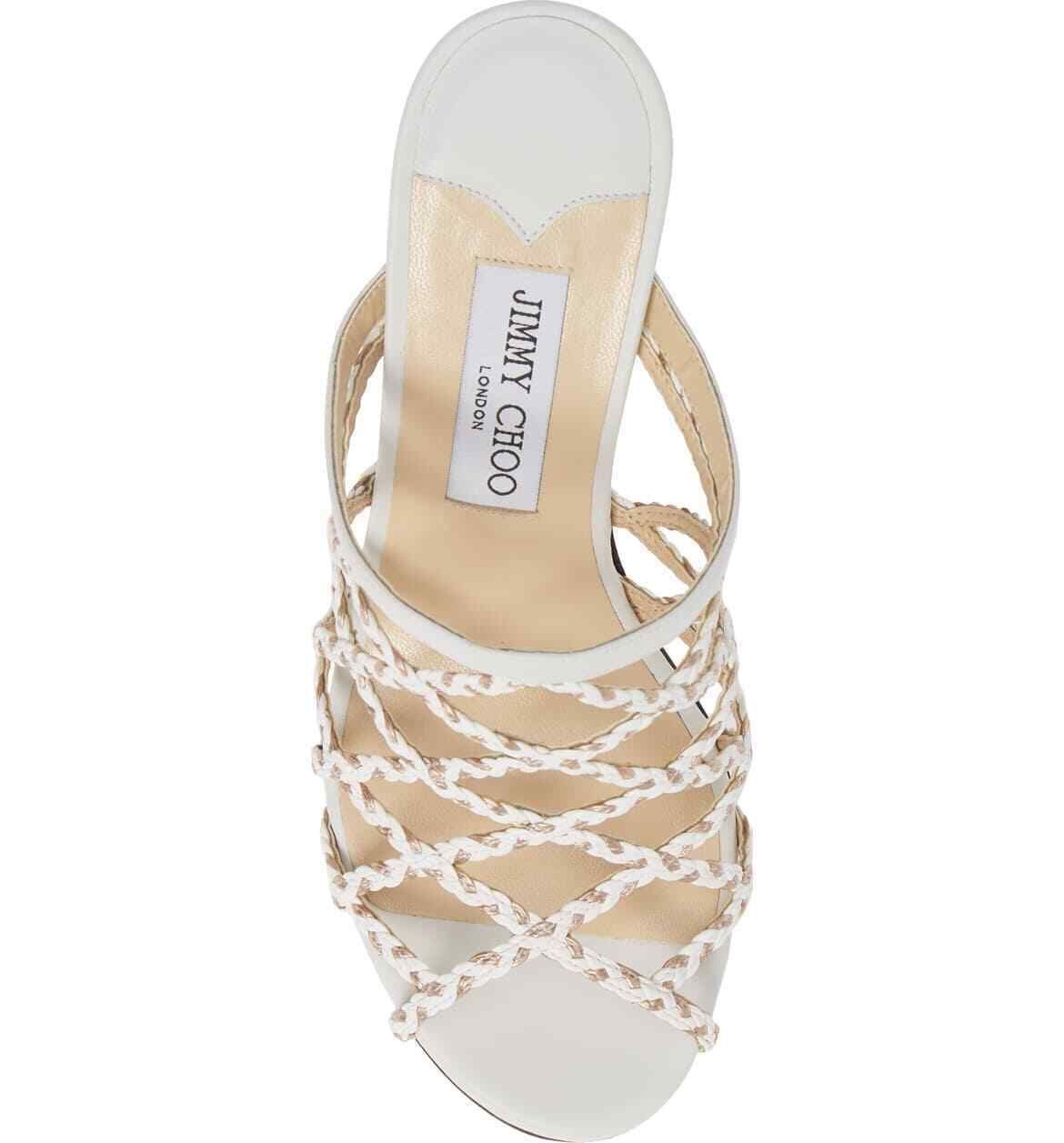 JIMMY CHOO Platform Slide Sandals Size 35.5 MSRP: $595.00