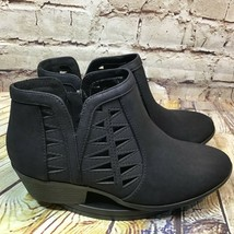 SODA Womens Black Side Zip Ankle Boots Booties Size 7 - $23.06