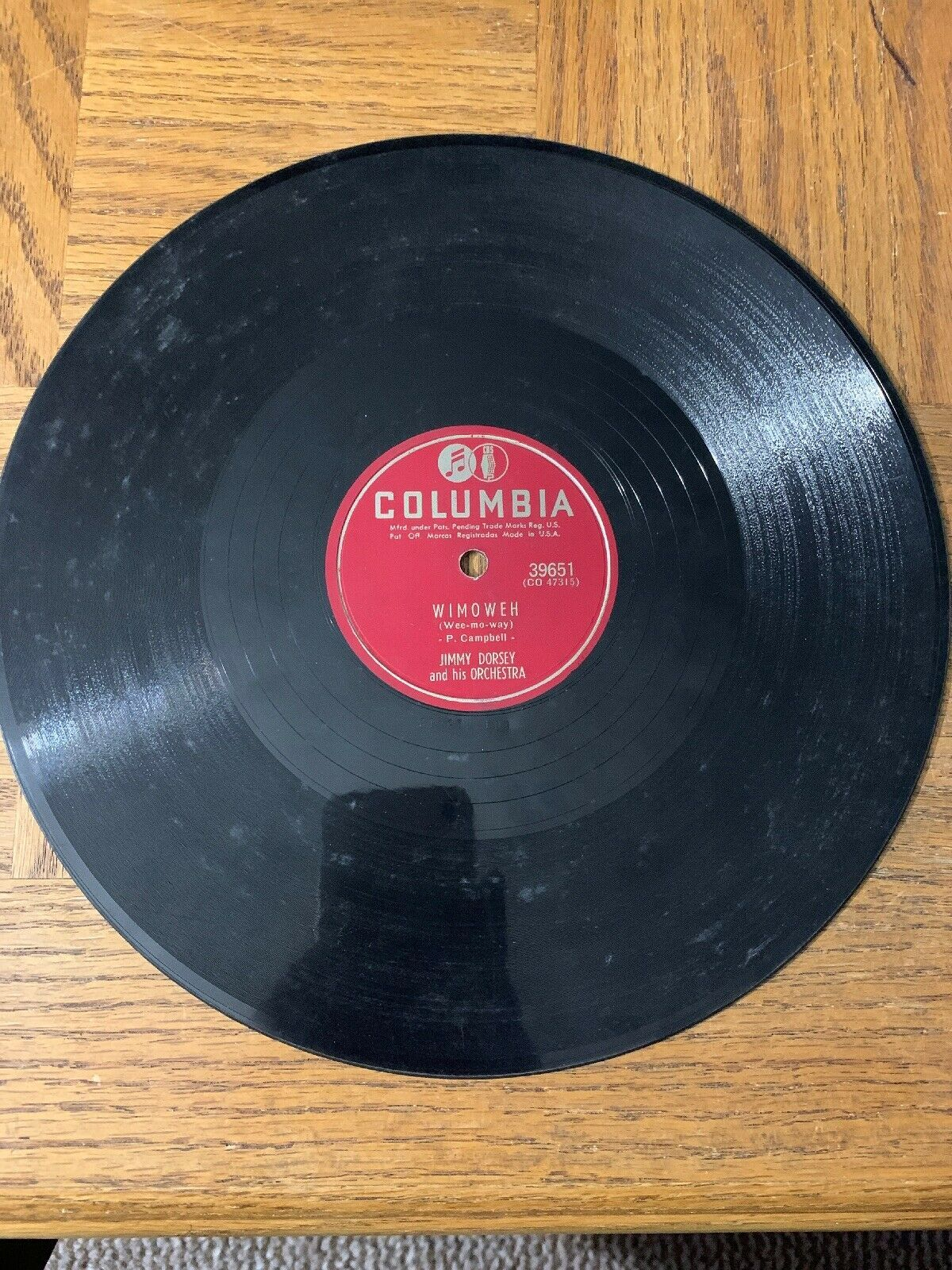 Jimmy Dorsey And His Orchestra Record