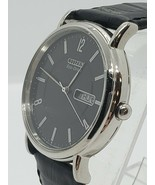 MEN'S CITIZEN ECO DRIVE DAY DATE (e101-s015570) LEATHER BAND - $145.80
