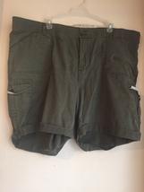 womens 24w green lee cargo shorts RAS1017 - $15.84