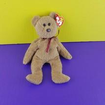 TY Beanie Baby Curly Teddy Bear 1993 Tush Tag 1996 Hang Tag - $8.91
