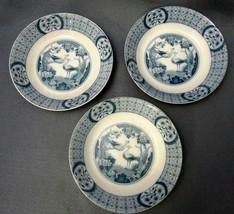 Johnson Bros England Mongolia Blue Pattern  Serving Bowls 1920 - $69.30