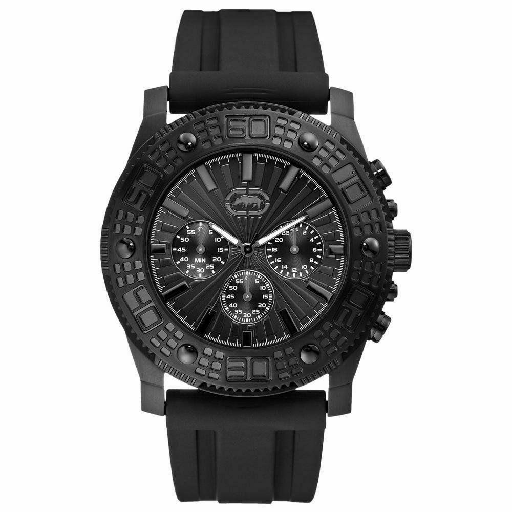 Marc Ecko E16515G1 Mens The Velocity Chronograph Black Polyutherane Strap Watch