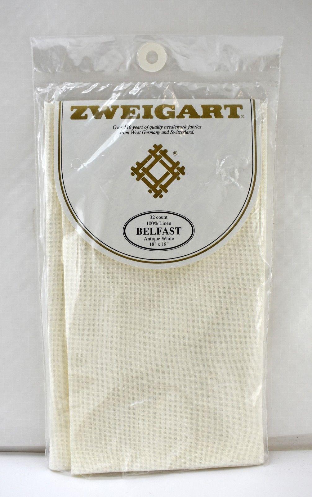 "Zweigart Belfast 32 Count 100% Linen Cross Stitch Fabric - Antique White 18""x18"" - $14.20"