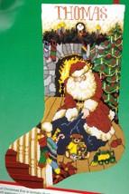 Dimensions Santas Gifts Bear Tree Christmas Eve Needlepoint Stocking Kit 9069 - $138.95