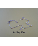 """Sterling Silver Twisted 20"""" Chain with Balls - New - $24.75"""