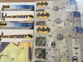 Lot Of 5 DC Batman Happy Birthday Banner Plastic 5 Foot Long Party Supplies D21 - $24.74