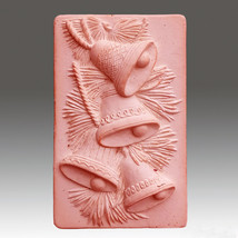 Jingle Bells 2016 - Detail of high relief sculpture,silicone mold, soap ... - $21.78