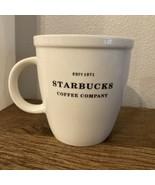 Starbucks 2006 Barista Mug Est.1971 Starbucks Coffee Co Cup White Oversized - $24.74