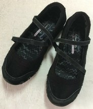 Women's Skechers Relaxed Fit Bikers Get-Up Mary Jane Black Size US 6.5 - $27.23