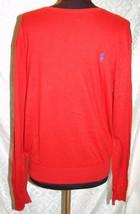 Polo Ralph Lauren M Red Crewneck Sweater Cotton Mens - $37.59