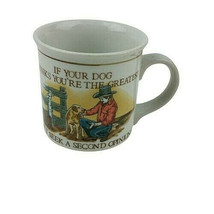If Your Dog Thinks You're Great Cowboy & Dog Otagiri Vintage Coffee Cup ... - $15.99