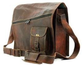 New unisex Leather Vintage Messenger Shoulder Men Satchel Laptop Bag - $63.83