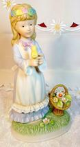 Vintage Napcoware Country Cousins Friendship Song Figurine Girl w/ Flower Basket image 4