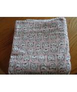 NEW Cuddl Duds Queen Flat Sheet Pink Cats HTF 100% Cotton Heavyweight Flannel - £21.68 GBP