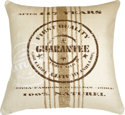 Pillow Decor - Quality Guarantee Brown Print Throw Pillow