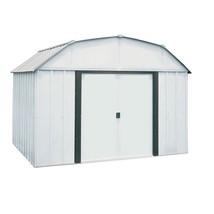 Storage Shed Steel Building 10 x 8 Sliding Lockable Double Door Outdoor ... - $537.27