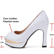 Spring Autumn Leather Pumps Women FEDONAS1New Classic Heels Shoes High Genuine xYIXqx4nw6