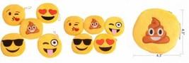 Cute Emoji Coin Purse Soft Plush Small Pouch Mini Smile wallet Womens Ca... - $11.35