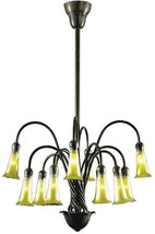 DALE TIFFANY LILY Chandelier Transitional 12-Light Verde - $2,000.00