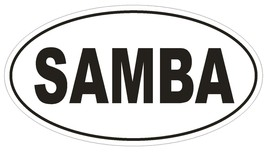 SAMBA Oval Bumper Sticker or Helmet Sticker D1858 Euro Oval Dance - $1.39+