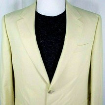 IZOD Mens Sport Coat Size 42 Regular Pale Yellow Two Button Unworn - $42.52