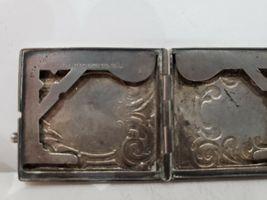 Antique Fraternal Elks BPOE Sterling Silver Card Case / Enameled Plague -1900's image 8