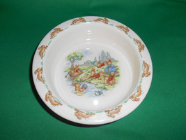 """6"""" (6 1/4"""") Round Baby Plate, from Royal Doulton, Bunnykins, Albion Shape - $8.99"""