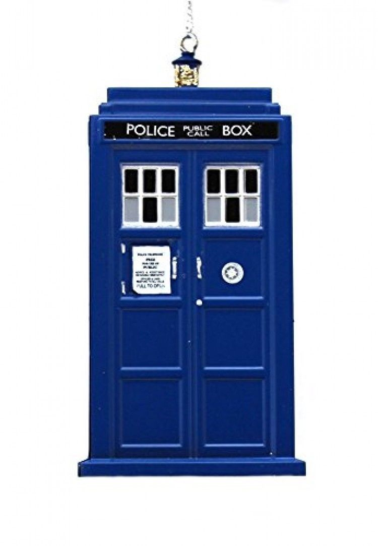 Kurt Adler 4.5 inch Doctor Who Tardis Blow Mold Plastic Christmas Ornament [New]