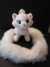 "Disney Parks Aristocats Marie White Cat Plush W 48"" Long Tail Boa Scarf ... - $14.85"