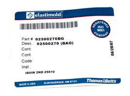 NEW ELASTIMOLD 02500270BG ELBOW COMPRESSION CONNECTOR image 2