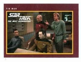 Star Trek The Next Generation card #214 Tin Man Captain Picard Data Crusher - $3.00