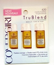 6 Covergirl Trublend #420 Medium/Deep Make Up-Mix the Colors to Get a perfect Co - $6.95