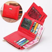 Women Genuine Leather Wallet Small Zipper Pu Leather Coin Card Holder Purse - $22.99