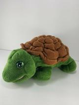 Aurora Sea Timmer Turtle Hand Puppet Green Soft Plush Stuffed Animal ful... - $11.57