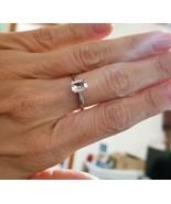 Rare 1carat White Sapphire 10K White Gold. Emerald Cut. Perfect engageme... - $881.10