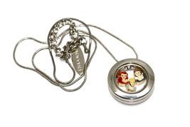 Bracciale Disney Round Locket Necklace Floating Cinderella Ariel Floating Charms - $24.74