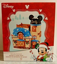 Department 56 Disney Mickey's Candy Shop Ceramic Lighted Christmas Villa... - $90.25
