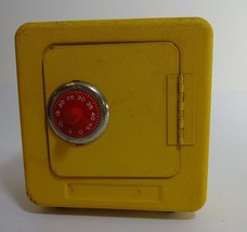 Superior Toy and Mfg Co Inc, Vintage Yellow Coin Bank with Padlock--Work... - $29.39