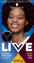 Schwarzkopf Live Intense Moisture Hair Dye Colour VIOLET VIXEN M09 DARK ... - $15.89