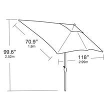 10 ft. x 6 ft. Aluminum Market Patio Umbrella in Saddle with Push-Button... - $220.41