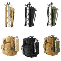 Outdoor Tactical Water Bottle Military Pouch Holder Carrier Molle Kettle... - $355,63 MXN